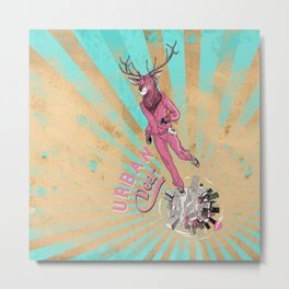 Urban Deer Metal Print
