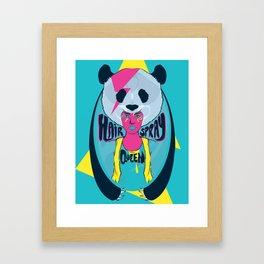 hair spray queen Framed Art Print