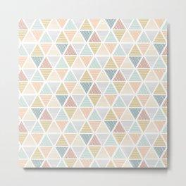 Triangles Pattern Metal Print