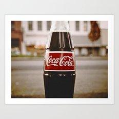 Roadside coke Art Print