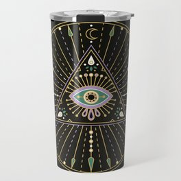 Evil Eye Mandala – Black Travel Mug