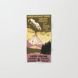Vintage poster - Lassen Volcanic National Park Hand & Bath Towel