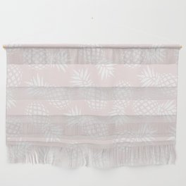 Pineapple pattern on pink 022 Wall Hanging