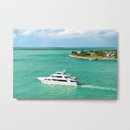 Miami Ocean Travel Yacht Metal Print
