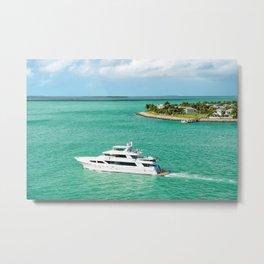 Miami Yacht Metal Print