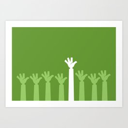 Hands Up Art Print