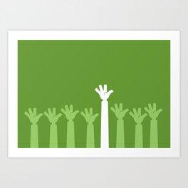 Hands Up Art Print