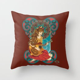 Acoustic Girl Throw Pillow