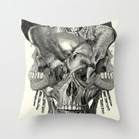 shield Throw Pillows featuring  Shield by DIVIDUS