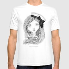 Loose Lips Sink Ships Mens Fitted Tee White MEDIUM
