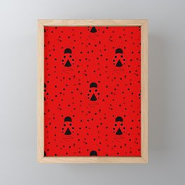 Ladybug Pattern Framed Mini Art Print