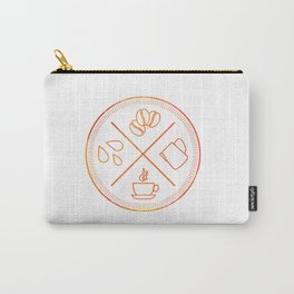 Four Elements of Cappuccino Pictogram Carry-All Pouch
