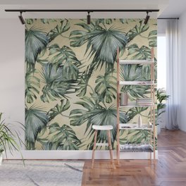 Palm Leaves Classic Linen Wall Mural