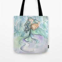 aquarius Tote Bags featuring Aquarius by Aline Souza de Souza