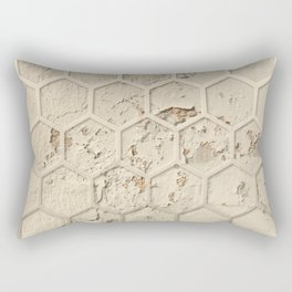 Hexagon on Beige Grunge Wall Rectangular Pillow