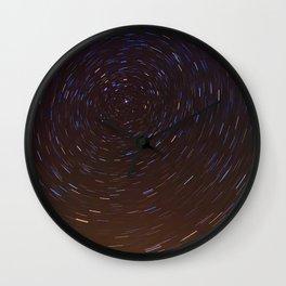Stars trails Wall Clock