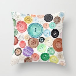 Buttons! Throw Pillow