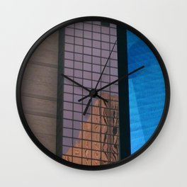 Manhattan Windows - Waterfall Wall Clock