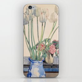 "Charles Rennie Mackintosh ""White tulips"" iPhone Skin"