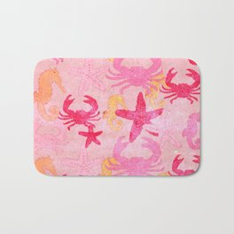 Sea World Vintage Pink Bath Mat