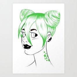 Sheena is... green Art Print