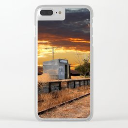 Sunset at the Coonawarra Rail Station Clear iPhone Case
