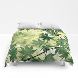 Green Japanese Maple Comforters