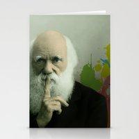 darwin Stationery Cards featuring Charles Darwin by Milos Cakovan