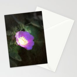 glowing old fashioned rose elegance Stationery Cards
