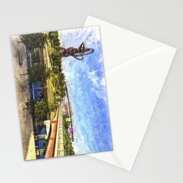 West Ham Olympic Stadium And The Arcelormittal Orbit Art Stationery Cards