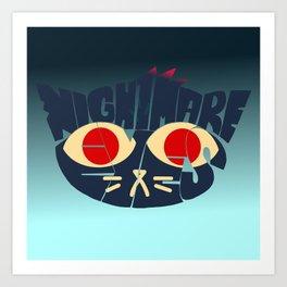 Mae - Nightmare eyes Art Print