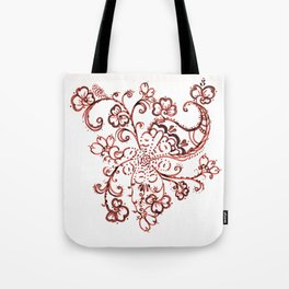 24. Elegant Henna Flower  in Pattern World  Tote Bag