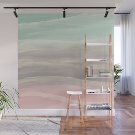 Pastel Watercolor Waves Abstract #1 #painting #decor #art #society6 Wall Mural