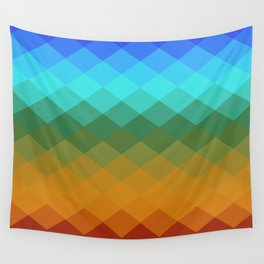 Rombs Vintage colors Wall Tapestry