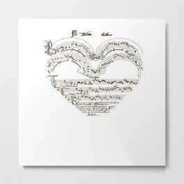 Chanson L'Amour Vintage Romance Metal Print