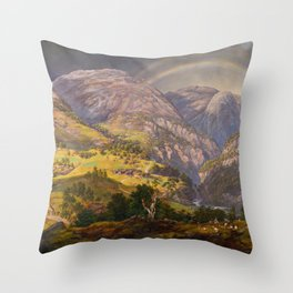 View from Stalheim (Fra Stalheim)  Throw Pillow