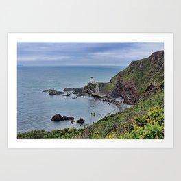 Hartland Point Devon Art Print