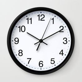 Wall clock black white Wall Clock
