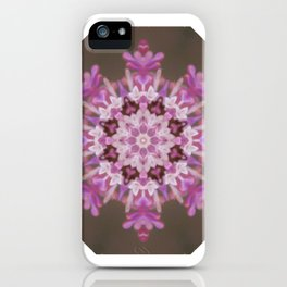 Lilac floral flake iPhone Case