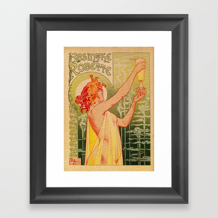 Classic French art nouveau Absinthe Robette Gerahmter Kunstdruck