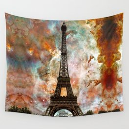 The Eiffel Tower - Paris France Art By Sharon Cummings Wall Tapestry