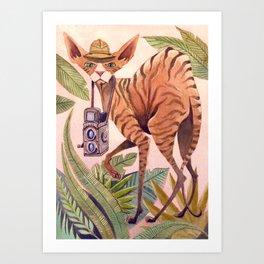 Safari Sphynx Art Print