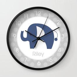 Riley - Elephant Clock Wall Clock
