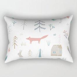 Into the Wild Pastel Rectangular Pillow