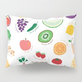 ABC Fruit and Vege Pillow Sham