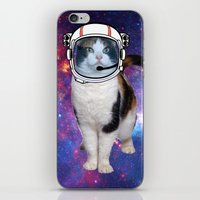 space cat iPhone & iPod Skins featuring Space cat by S.Levis