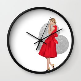 Hearts on Fire Wall Clock