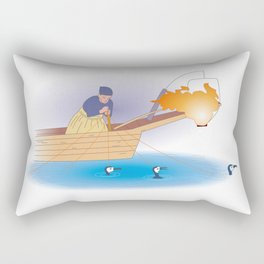 Japanese Cormorant fishing Rectangular Pillow