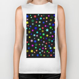 Stars on black ground Biker Tank