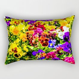 Viola Tricolor Pansy Flowers Rectangular Pillow